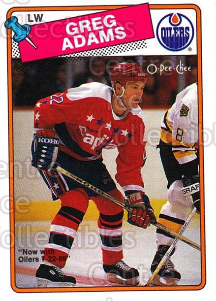 1988-89 O-Pee-Chee #199 Greg Adams<br/>8 In Stock - $1.00 each - <a href=https://centericecollectibles.foxycart.com/cart?name=1988-89%20O-Pee-Chee%20%23199%20Greg%20Adams...&quantity_max=8&price=$1.00&code=22227 class=foxycart> Buy it now! </a>