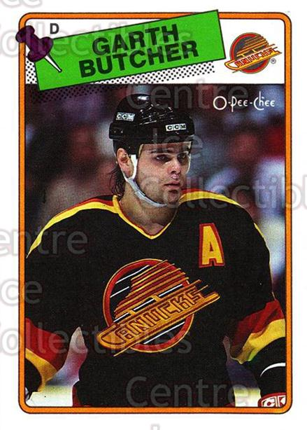 1988-89 O-Pee-Chee #202 Garth Butcher<br/>11 In Stock - $1.00 each - <a href=https://centericecollectibles.foxycart.com/cart?name=1988-89%20O-Pee-Chee%20%23202%20Garth%20Butcher...&quantity_max=11&price=$1.00&code=22231 class=foxycart> Buy it now! </a>
