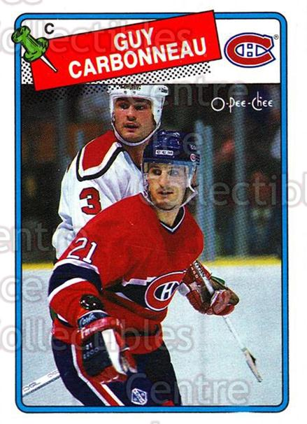 1988-89 O-Pee-Chee #203 Guy Carbonneau<br/>6 In Stock - $1.00 each - <a href=https://centericecollectibles.foxycart.com/cart?name=1988-89%20O-Pee-Chee%20%23203%20Guy%20Carbonneau...&quantity_max=6&price=$1.00&code=22232 class=foxycart> Buy it now! </a>