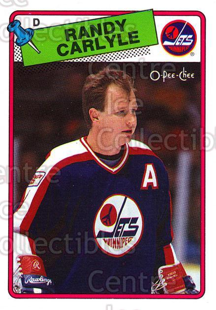 1988-89 O-Pee-Chee #204 Randy Carlyle<br/>10 In Stock - $1.00 each - <a href=https://centericecollectibles.foxycart.com/cart?name=1988-89%20O-Pee-Chee%20%23204%20Randy%20Carlyle...&quantity_max=10&price=$1.00&code=22233 class=foxycart> Buy it now! </a>