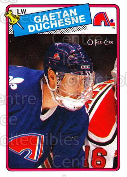 1988-89 O-Pee-Chee #208 Gaetan Duchesne<br/>11 In Stock - $1.00 each - <a href=https://centericecollectibles.foxycart.com/cart?name=1988-89%20O-Pee-Chee%20%23208%20Gaetan%20Duchesne...&quantity_max=11&price=$1.00&code=22236 class=foxycart> Buy it now! </a>