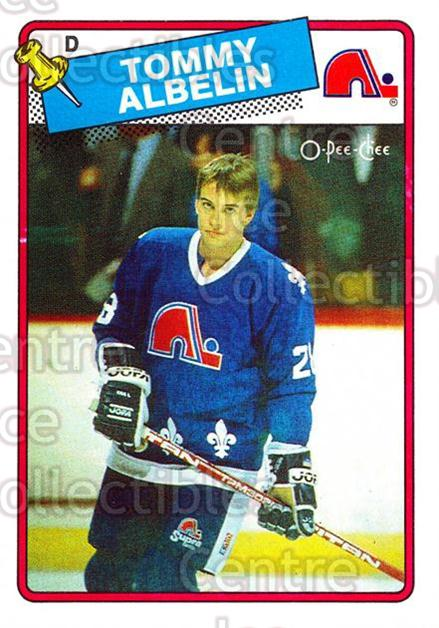 1988-89 O-Pee-Chee #210 Tommy Albelin<br/>6 In Stock - $1.00 each - <a href=https://centericecollectibles.foxycart.com/cart?name=1988-89%20O-Pee-Chee%20%23210%20Tommy%20Albelin...&quantity_max=6&price=$1.00&code=22238 class=foxycart> Buy it now! </a>