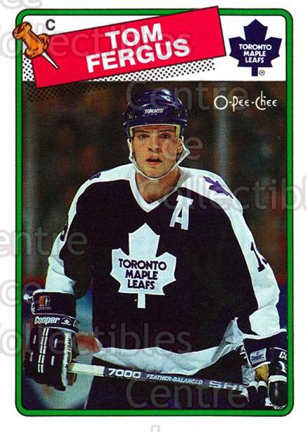 1988-89 O-Pee-Chee #214 Tom Fergus<br/>10 In Stock - $1.00 each - <a href=https://centericecollectibles.foxycart.com/cart?name=1988-89%20O-Pee-Chee%20%23214%20Tom%20Fergus...&price=$1.00&code=22242 class=foxycart> Buy it now! </a>