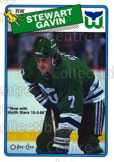 1988-89 O-Pee-Chee #217 Stewart Gavin<br/>11 In Stock - $1.00 each - <a href=https://centericecollectibles.foxycart.com/cart?name=1988-89%20O-Pee-Chee%20%23217%20Stewart%20Gavin...&quantity_max=11&price=$1.00&code=22244 class=foxycart> Buy it now! </a>