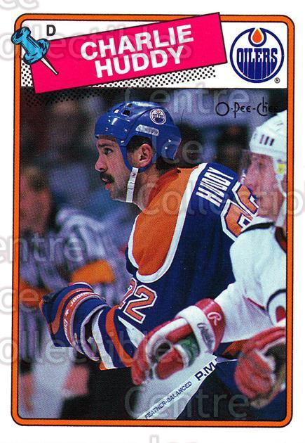 1988-89 O-Pee-Chee #218 Charlie Huddy<br/>10 In Stock - $1.00 each - <a href=https://centericecollectibles.foxycart.com/cart?name=1988-89%20O-Pee-Chee%20%23218%20Charlie%20Huddy...&quantity_max=10&price=$1.00&code=22245 class=foxycart> Buy it now! </a>
