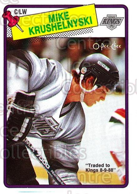 1988-89 O-Pee-Chee #221 Mike Krushelnyski<br/>11 In Stock - $1.00 each - <a href=https://centericecollectibles.foxycart.com/cart?name=1988-89%20O-Pee-Chee%20%23221%20Mike%20Krushelnys...&quantity_max=11&price=$1.00&code=22248 class=foxycart> Buy it now! </a>