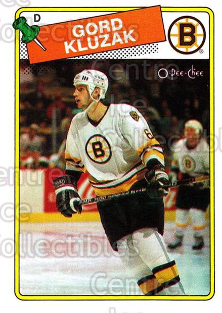 1988-89 O-Pee-Chee #23 Gord Kluzak<br/>11 In Stock - $1.00 each - <a href=https://centericecollectibles.foxycart.com/cart?name=1988-89%20O-Pee-Chee%20%2323%20Gord%20Kluzak...&quantity_max=11&price=$1.00&code=22257 class=foxycart> Buy it now! </a>