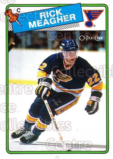 1988-89 O-Pee-Chee #235 Rick Meagher<br/>10 In Stock - $1.00 each - <a href=https://centericecollectibles.foxycart.com/cart?name=1988-89%20O-Pee-Chee%20%23235%20Rick%20Meagher...&quantity_max=10&price=$1.00&code=22263 class=foxycart> Buy it now! </a>