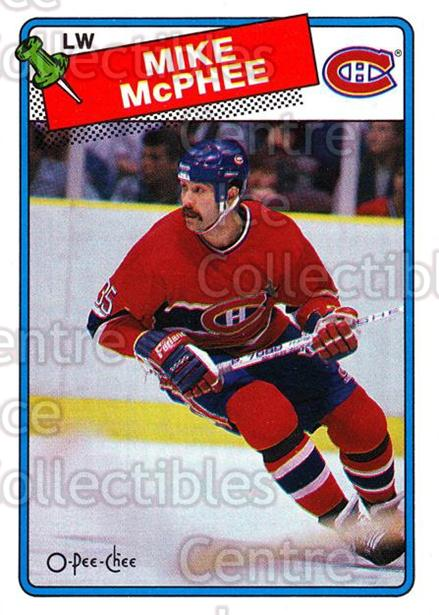 1988-89 O-Pee-Chee #237 Mike McPhee<br/>8 In Stock - $1.00 each - <a href=https://centericecollectibles.foxycart.com/cart?name=1988-89%20O-Pee-Chee%20%23237%20Mike%20McPhee...&quantity_max=8&price=$1.00&code=22265 class=foxycart> Buy it now! </a>