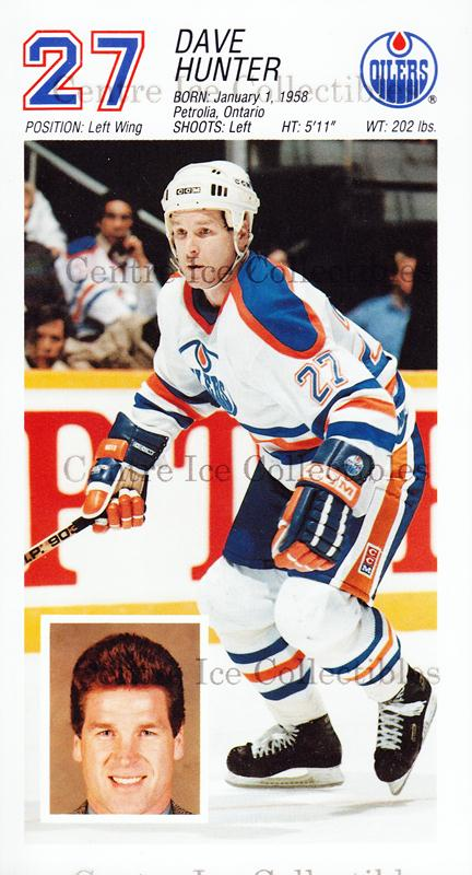 1988-89 Edmonton Oilers Team Issue #11 Dave Hunter<br/>2 In Stock - $3.00 each - <a href=https://centericecollectibles.foxycart.com/cart?name=1988-89%20Edmonton%20Oilers%20Team%20Issue%20%2311%20Dave%20Hunter...&quantity_max=2&price=$3.00&code=22279 class=foxycart> Buy it now! </a>