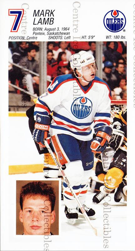 1988-89 Edmonton Oilers Team Issue #16 Mark Lamb<br/>2 In Stock - $3.00 each - <a href=https://centericecollectibles.foxycart.com/cart?name=1988-89%20Edmonton%20Oilers%20Team%20Issue%20%2316%20Mark%20Lamb...&quantity_max=2&price=$3.00&code=22282 class=foxycart> Buy it now! </a>