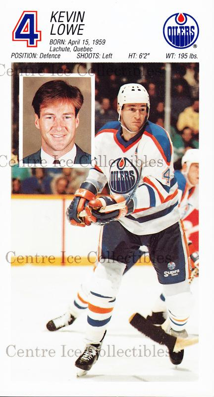1988-89 Edmonton Oilers Team Issue #18 Kevin Lowe<br/>1 In Stock - $3.00 each - <a href=https://centericecollectibles.foxycart.com/cart?name=1988-89%20Edmonton%20Oilers%20Team%20Issue%20%2318%20Kevin%20Lowe...&quantity_max=1&price=$3.00&code=22284 class=foxycart> Buy it now! </a>