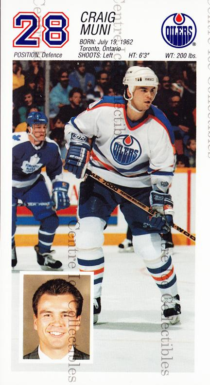 1988-89 Edmonton Oilers Team Issue #22 Craig Muni<br/>3 In Stock - $3.00 each - <a href=https://centericecollectibles.foxycart.com/cart?name=1988-89%20Edmonton%20Oilers%20Team%20Issue%20%2322%20Craig%20Muni...&quantity_max=3&price=$3.00&code=22289 class=foxycart> Buy it now! </a>