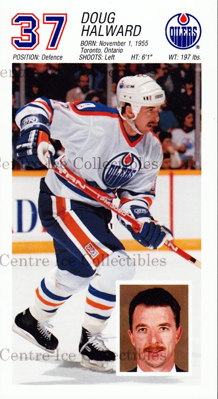 1988-89 Edmonton Oilers Team Issue #9 Doug Halward<br/>2 In Stock - $3.00 each - <a href=https://centericecollectibles.foxycart.com/cart?name=1988-89%20Edmonton%20Oilers%20Team%20Issue%20%239%20Doug%20Halward...&quantity_max=2&price=$3.00&code=22294 class=foxycart> Buy it now! </a>