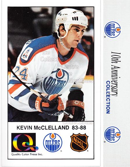 1988-89 Edmonton Oilers Tenth Anniversary #109 Kevin McClelland<br/>7 In Stock - $3.00 each - <a href=https://centericecollectibles.foxycart.com/cart?name=1988-89%20Edmonton%20Oilers%20Tenth%20Anniversary%20%23109%20Kevin%20McClellan...&quantity_max=7&price=$3.00&code=22302 class=foxycart> Buy it now! </a>