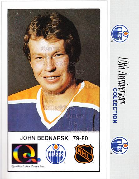 1988-89 Edmonton Oilers Tenth Anniversary #125 John Bednarski<br/>4 In Stock - $3.00 each - <a href=https://centericecollectibles.foxycart.com/cart?name=1988-89%20Edmonton%20Oilers%20Tenth%20Anniversary%20%23125%20John%20Bednarski...&quantity_max=4&price=$3.00&code=22313 class=foxycart> Buy it now! </a>