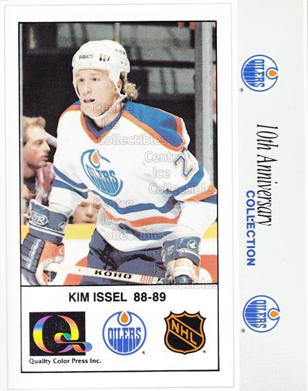 1988-89 Edmonton Oilers Tenth Anniversary #155 Kim Issel<br/>6 In Stock - $3.00 each - <a href=https://centericecollectibles.foxycart.com/cart?name=1988-89%20Edmonton%20Oilers%20Tenth%20Anniversary%20%23155%20Kim%20Issel...&quantity_max=6&price=$3.00&code=22333 class=foxycart> Buy it now! </a>