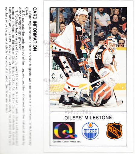 1988-89 Edmonton Oilers Tenth Anniversary #162 Jari Kurri, Grant Fuhr<br/>3 In Stock - $5.00 each - <a href=https://centericecollectibles.foxycart.com/cart?name=1988-89%20Edmonton%20Oilers%20Tenth%20Anniversary%20%23162%20Jari%20Kurri,%20Gra...&quantity_max=3&price=$5.00&code=22340 class=foxycart> Buy it now! </a>
