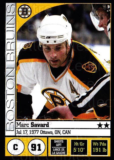 2008-09 Panini Stickers #16 Marc Savard<br/>5 In Stock - $1.00 each - <a href=https://centericecollectibles.foxycart.com/cart?name=2008-09%20Panini%20Stickers%20%2316%20Marc%20Savard...&quantity_max=5&price=$1.00&code=224041 class=foxycart> Buy it now! </a>