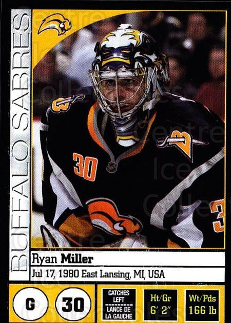 2008-09 Panini Stickers #20 Ryan Miller<br/>5 In Stock - $1.00 each - <a href=https://centericecollectibles.foxycart.com/cart?name=2008-09%20Panini%20Stickers%20%2320%20Ryan%20Miller...&quantity_max=5&price=$1.00&code=224045 class=foxycart> Buy it now! </a>