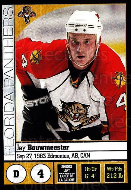 2008-09 Panini Stickers #42 Jay Bouwmeester<br/>6 In Stock - $1.00 each - <a href=https://centericecollectibles.foxycart.com/cart?name=2008-09%20Panini%20Stickers%20%2342%20Jay%20Bouwmeester...&quantity_max=6&price=$1.00&code=224067 class=foxycart> Buy it now! </a>