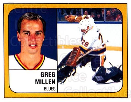 1988-89 Panini Stickers #100 Greg Millen<br/>3 In Stock - $1.00 each - <a href=https://centericecollectibles.foxycart.com/cart?name=1988-89%20Panini%20Stickers%20%23100%20Greg%20Millen...&quantity_max=3&price=$1.00&code=22406 class=foxycart> Buy it now! </a>