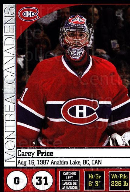 2008-09 Panini Stickers #47 Carey Price<br/>1 In Stock - $3.00 each - <a href=https://centericecollectibles.foxycart.com/cart?name=2008-09%20Panini%20Stickers%20%2347%20Carey%20Price...&quantity_max=1&price=$3.00&code=224072 class=foxycart> Buy it now! </a>