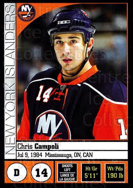 2008-09 Panini Stickers #67 Chris Campoli<br/>6 In Stock - $1.00 each - <a href=https://centericecollectibles.foxycart.com/cart?name=2008-09%20Panini%20Stickers%20%2367%20Chris%20Campoli...&quantity_max=6&price=$1.00&code=224092 class=foxycart> Buy it now! </a>