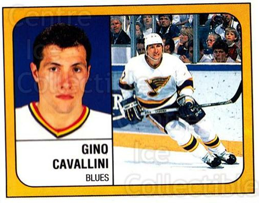 1988-89 Panini Stickers #103 Gino Cavallini<br/>3 In Stock - $1.00 each - <a href=https://centericecollectibles.foxycart.com/cart?name=1988-89%20Panini%20Stickers%20%23103%20Gino%20Cavallini...&quantity_max=3&price=$1.00&code=22409 class=foxycart> Buy it now! </a>