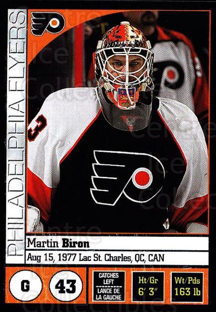 2008-09 Panini Stickers #92 Martin Biron<br/>5 In Stock - $1.00 each - <a href=https://centericecollectibles.foxycart.com/cart?name=2008-09%20Panini%20Stickers%20%2392%20Martin%20Biron...&quantity_max=5&price=$1.00&code=224117 class=foxycart> Buy it now! </a>