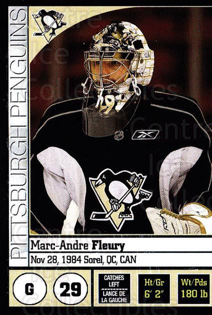 2008-09 Panini Stickers #101 Marc-Andre Fleury<br/>4 In Stock - $2.00 each - <a href=https://centericecollectibles.foxycart.com/cart?name=2008-09%20Panini%20Stickers%20%23101%20Marc-Andre%20Fleu...&quantity_max=4&price=$2.00&code=224126 class=foxycart> Buy it now! </a>