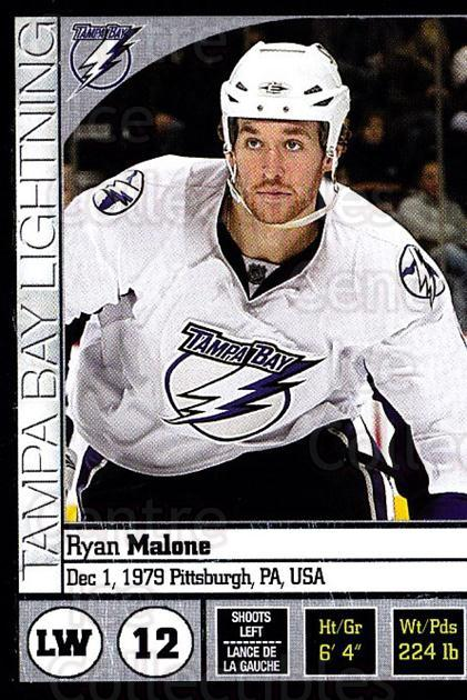 2008-09 Panini Stickers #113 Ryan Malone<br/>6 In Stock - $1.00 each - <a href=https://centericecollectibles.foxycart.com/cart?name=2008-09%20Panini%20Stickers%20%23113%20Ryan%20Malone...&quantity_max=6&price=$1.00&code=224138 class=foxycart> Buy it now! </a>