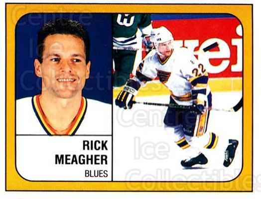 1988-89 Panini Stickers #110 Rick Meagher<br/>5 In Stock - $1.00 each - <a href=https://centericecollectibles.foxycart.com/cart?name=1988-89%20Panini%20Stickers%20%23110%20Rick%20Meagher...&quantity_max=5&price=$1.00&code=22416 class=foxycart> Buy it now! </a>