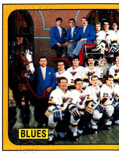 1988-89 Panini Stickers #112 St. Louis Blues, Team Photo<br/>5 In Stock - $1.00 each - <a href=https://centericecollectibles.foxycart.com/cart?name=1988-89%20Panini%20Stickers%20%23112%20St.%20Louis%20Blues...&price=$1.00&code=22418 class=foxycart> Buy it now! </a>