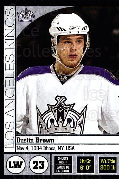 2008-09 Panini Stickers #210 Dustin Brown<br/>5 In Stock - $1.00 each - <a href=https://centericecollectibles.foxycart.com/cart?name=2008-09%20Panini%20Stickers%20%23210%20Dustin%20Brown...&quantity_max=5&price=$1.00&code=224235 class=foxycart> Buy it now! </a>
