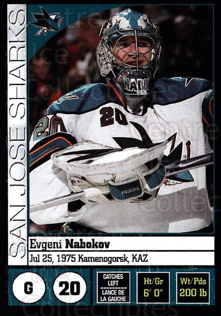 2008-09 Panini Stickers #245 Evgeni Nabokov<br/>4 In Stock - $1.00 each - <a href=https://centericecollectibles.foxycart.com/cart?name=2008-09%20Panini%20Stickers%20%23245%20Evgeni%20Nabokov...&quantity_max=4&price=$1.00&code=224270 class=foxycart> Buy it now! </a>