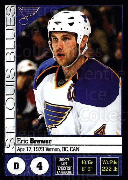 2008-09 Panini Stickers #258 Eric Brewer<br/>4 In Stock - $1.00 each - <a href=https://centericecollectibles.foxycart.com/cart?name=2008-09%20Panini%20Stickers%20%23258%20Eric%20Brewer...&quantity_max=4&price=$1.00&code=224283 class=foxycart> Buy it now! </a>
