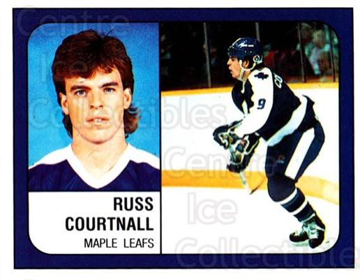 1988-89 Panini Stickers #122 Russ Courtnall<br/>4 In Stock - $1.00 each - <a href=https://centericecollectibles.foxycart.com/cart?name=1988-89%20Panini%20Stickers%20%23122%20Russ%20Courtnall...&quantity_max=4&price=$1.00&code=22428 class=foxycart> Buy it now! </a>