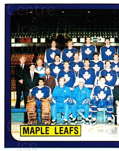 1988-89 Panini Stickers #128 Toronto Maple Leafs, Team Photo<br/>5 In Stock - $1.00 each - <a href=https://centericecollectibles.foxycart.com/cart?name=1988-89%20Panini%20Stickers%20%23128%20Toronto%20Maple%20L...&price=$1.00&code=22434 class=foxycart> Buy it now! </a>