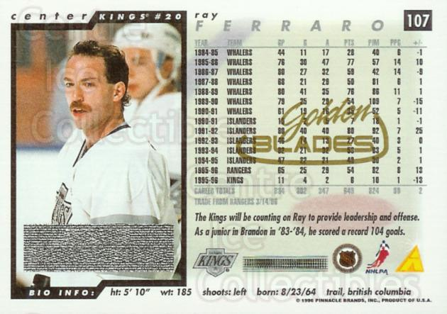 1996-97 Score Golden Blades Special Artist Proof Winners #107 Ray Ferraro<br/>2 In Stock - $5.00 each - <a href=https://centericecollectibles.foxycart.com/cart?name=1996-97%20Score%20Golden%20Blades%20Special%20Artist%20Proof%20Winners%20%23107%20Ray%20Ferraro...&quantity_max=2&price=$5.00&code=224570 class=foxycart> Buy it now! </a>