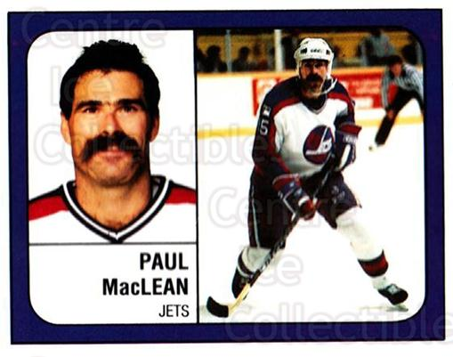 1988-89 Panini Stickers #156 Paul MacLean<br/>5 In Stock - $1.00 each - <a href=https://centericecollectibles.foxycart.com/cart?name=1988-89%20Panini%20Stickers%20%23156%20Paul%20MacLean...&quantity_max=5&price=$1.00&code=22462 class=foxycart> Buy it now! </a>