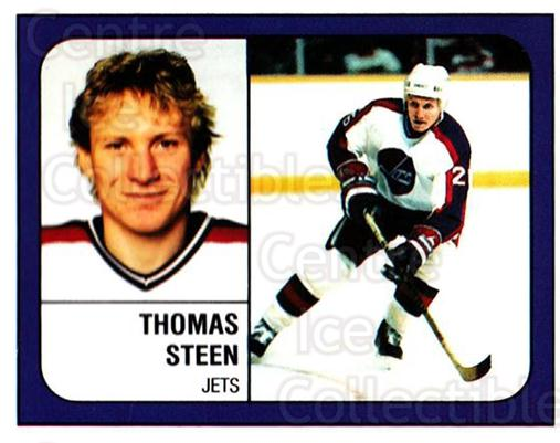 1988-89 Panini Stickers #159 Thomas Steen<br/>5 In Stock - $1.00 each - <a href=https://centericecollectibles.foxycart.com/cart?name=1988-89%20Panini%20Stickers%20%23159%20Thomas%20Steen...&quantity_max=5&price=$1.00&code=22465 class=foxycart> Buy it now! </a>