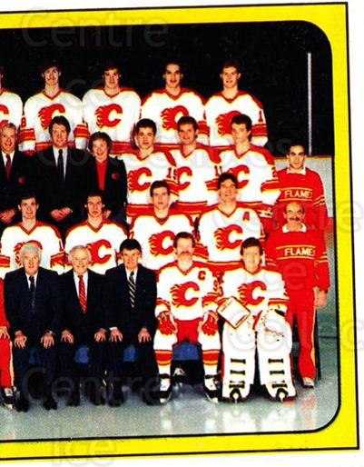 1988-89 Panini Stickers #17 Calgary Flames, Team Photo<br/>5 In Stock - $1.00 each - <a href=https://centericecollectibles.foxycart.com/cart?name=1988-89%20Panini%20Stickers%20%2317%20Calgary%20Flames,...&price=$1.00&code=22476 class=foxycart> Buy it now! </a>