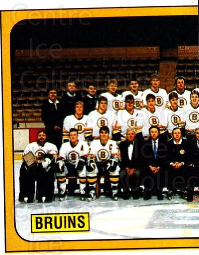 1988-89 Panini Stickers #215 Boston Bruins, Team Photo<br/>5 In Stock - $1.00 each - <a href=https://centericecollectibles.foxycart.com/cart?name=1988-89%20Panini%20Stickers%20%23215%20Boston%20Bruins,%20...&price=$1.00&code=22520 class=foxycart> Buy it now! </a>