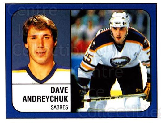 1988-89 Panini Stickers #223 Dave Andreychuk<br/>4 In Stock - $1.00 each - <a href=https://centericecollectibles.foxycart.com/cart?name=1988-89%20Panini%20Stickers%20%23223%20Dave%20Andreychuk...&quantity_max=4&price=$1.00&code=22528 class=foxycart> Buy it now! </a>