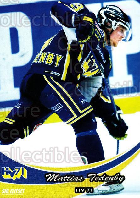 2009-10 Swedish Elitset #59 Mattias Tedenby<br/>7 In Stock - $2.00 each - <a href=https://centericecollectibles.foxycart.com/cart?name=2009-10%20Swedish%20Elitset%20%2359%20Mattias%20Tedenby...&quantity_max=7&price=$2.00&code=225833 class=foxycart> Buy it now! </a>