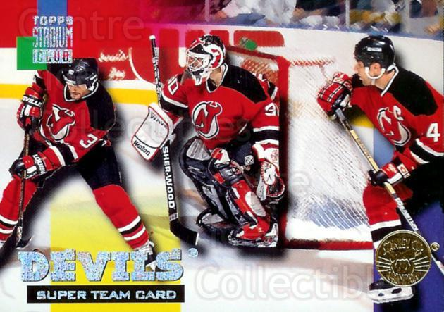 1994-95 Stadium Club Super Teams Stanley Cup Winners #13 New Jersey Devils, Martin Brodeur, Dave Andreychuk, Ken Daneyko<br/>12 In Stock - $5.00 each - <a href=https://centericecollectibles.foxycart.com/cart?name=1994-95%20Stadium%20Club%20Super%20Teams%20Stanley%20Cup%20Winners%20%2313%20New%20Jersey%20Devi...&price=$5.00&code=225974 class=foxycart> Buy it now! </a>