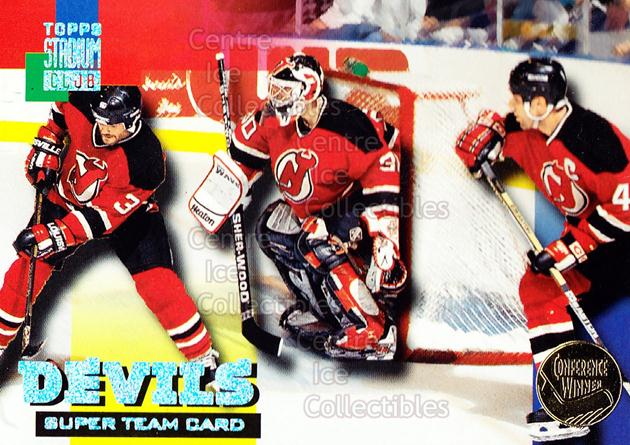 1994-95 Stadium Club Super Teams Conference Winners #13 Martin Brodeur, Dave Andreychuk, Ken Daneyko<br/>6 In Stock - $3.00 each - <a href=https://centericecollectibles.foxycart.com/cart?name=1994-95%20Stadium%20Club%20Super%20Teams%20Conference%20Winners%20%2313%20Martin%20Brodeur,...&price=$3.00&code=225975 class=foxycart> Buy it now! </a>