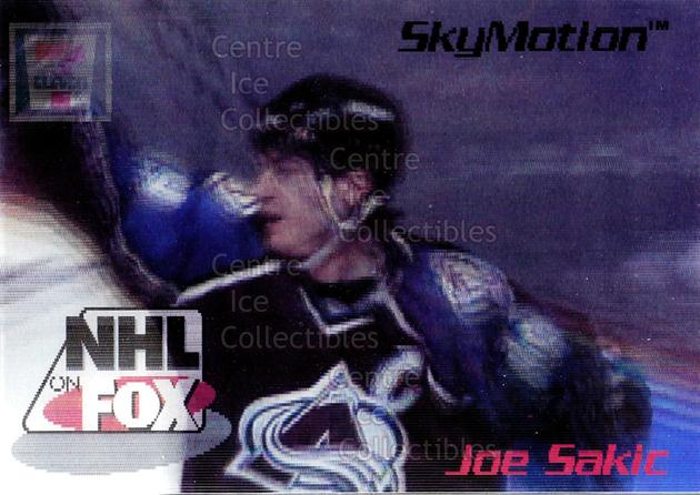 1996 Skybox NHL on Fox SkyMotion #1 Joe Sakic<br/>5 In Stock - $5.00 each - <a href=https://centericecollectibles.foxycart.com/cart?name=1996%20Skybox%20NHL%20on%20Fox%20SkyMotion%20%231%20Joe%20Sakic...&price=$5.00&code=225978 class=foxycart> Buy it now! </a>
