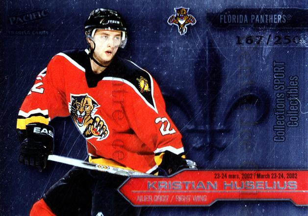 2002 Pacific Montreal International #5 Kristian Huselius<br/>4 In Stock - $5.00 each - <a href=https://centericecollectibles.foxycart.com/cart?name=2002%20Pacific%20Montreal%20International%20%235%20Kristian%20Huseli...&quantity_max=4&price=$5.00&code=226015 class=foxycart> Buy it now! </a>
